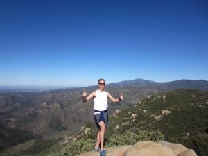 Feeling good on top of Sitton Peak